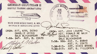 RONALD E. McNAIR - SPECIAL COVER SIGNED CO-SIGNED BY: COLONEL KAROL J. BOBKO, COLONEL JACK LOUSMA, CAPTAIN MICHAEL L. COATS