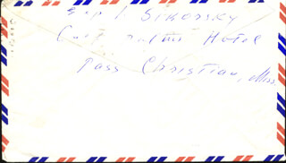 IGOR SIKORSKY - ENVELOPE DOUBLE SIGNED CIRCA 1960
