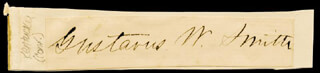 Autographs: MAJOR GENERAL GUSTAVUS W. SMITH - CLIPPED SIGNATURE