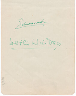 KING EDWARD VIII - AUTOGRAPH CIRCA 1941 CO-SIGNED BY: DUCHESS OF WINDSOR (WALLIS SIMPSON)