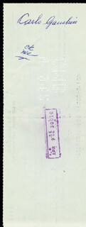 CARLO DON CARLO GAMBINO - CHECK ENDORSED 04/01/1962 CO-SIGNED BY: HENRY SALTZSTEIN, GEORGE SCHILLER
