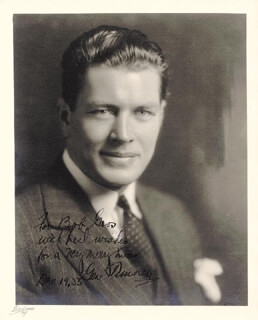 GENE TUNNEY - AUTOGRAPHED INSCRIBED PHOTOGRAPH 12/19/1933