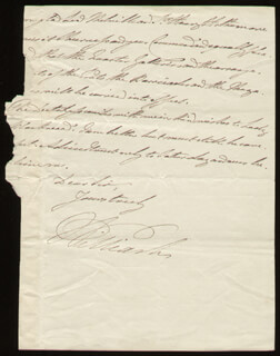 Autographs: KING WILLIAM IV - AUTOGRAPH LETTER FRAGMENT SIGNED