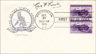 CARLOS P. ROMULO - FIRST DAY COVER SIGNED