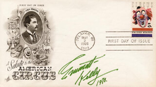 EMMETT KELLY SR. - FIRST DAY COVER SIGNED 1970