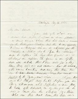 PRESIDENT FRANKLIN PIERCE - AUTOGRAPH LETTER SIGNED 01/16/1842