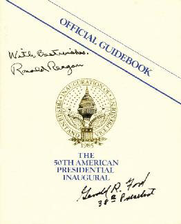 PRESIDENT RONALD REAGAN - PROGRAM SIGNED CIRCA 1985 CO-SIGNED BY: PRESIDENT GERALD R. FORD