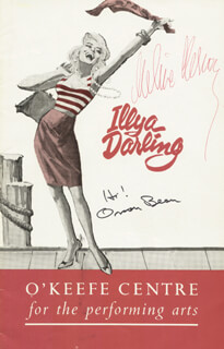 ILLYA DARLING PLAY CAST - SHOW BILL SIGNED CIRCA 1967 CO-SIGNED BY: MELINA MERCOURI, ORSON BEAN