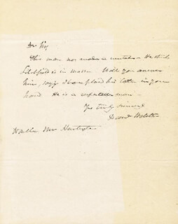 DANIEL WEBSTER - AUTOGRAPH LETTER SIGNED