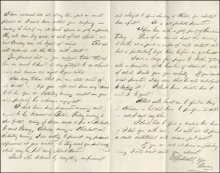 HARRIS CHARLES FAHNESTOCK - AUTOGRAPH LETTER SIGNED