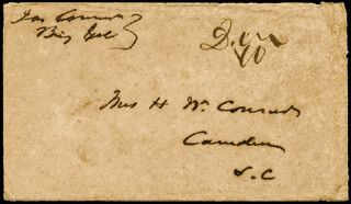 Autographs: BRIGADIER GENERAL JAMES CONNER - ENVELOPE SIGNED
