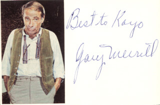 GARY MERRILL - AUTOGRAPH NOTE SIGNED