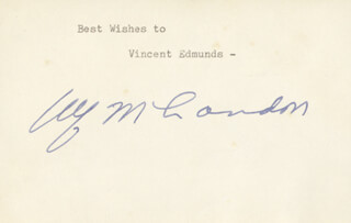 GOVERNOR ALF M. (ALFRED) LANDON - TYPED INSCRIPTION SIGNED