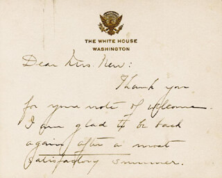 FIRST LADY GRACE COOLIDGE - AUTOGRAPH LETTER SIGNED