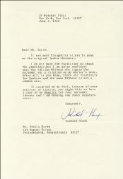 PRESIDENT RICHARD M. NIXON - TYPED LETTER SIGNED 06/02/1980