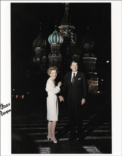 FIRST LADY NANCY DAVIS REAGAN - AUTOGRAPHED SIGNED PHOTOGRAPH