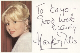 HAYLEY MILLS - AUTOGRAPH NOTE SIGNED