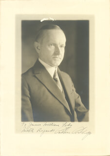 Autographs: PRESIDENT CALVIN COOLIDGE - INSCRIBED PHOTOGRAPH SIGNED