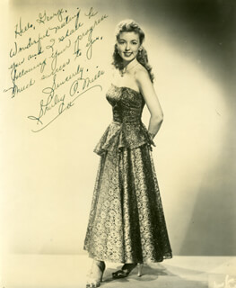 SHIRLEY O. MILLS - AUTOGRAPHED INSCRIBED PHOTOGRAPH