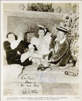 LOVE THY NEIGHBOR MOVIE CAST - AUTOGRAPHED INSCRIBED PHOTOGRAPH CO-SIGNED BY: FRED ALLEN, MARY MARTIN