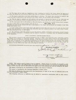 TALLULAH BANKHEAD - CONTRACT SIGNED