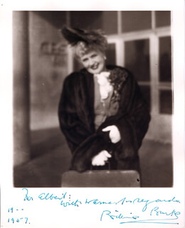 BILLIE BURKE - AUTOGRAPHED INSCRIBED PHOTOGRAPH 1957