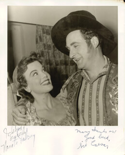 Autographs: CAESAR'S HOUR TV CAST - INSCRIBED PHOTOGRAPH SIGNED CO-SIGNED BY: SID CAESAR, NANETTE FABRAY