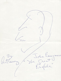 Autographs: ART CARNEY - ORIGINAL ART SIGNED