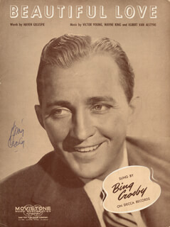 BING CROSBY - SHEET MUSIC SIGNED CIRCA 1944