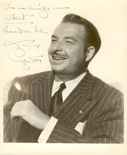 Autographs: XAVIER CUGAT - INSCRIBED PHOTOGRAPH SIGNED 1949