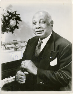 W.C. HANDY - AUTOGRAPHED INSCRIBED PHOTOGRAPH 04/08/1957