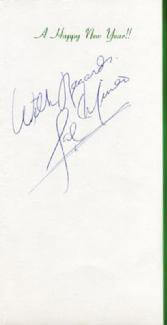 Autographs: SAL MINEO - CHRISTMAS / HOLIDAY CARD SIGNED