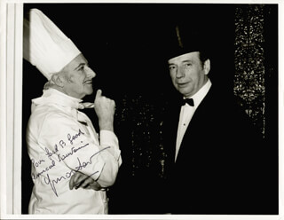 YVES MONTAND - AUTOGRAPHED INSCRIBED PHOTOGRAPH