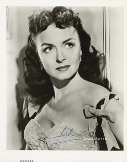 DONNA REED - AUTOGRAPHED SIGNED PHOTOGRAPH