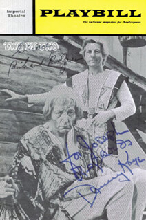Autographs: TWO BY TWO BROADWAY CAST - INSCRIBED SHOW BILL SIGNED CIRCA 1970 CO-SIGNED BY: RICHARD RODGERS, DANNY KAYE