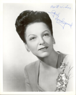 GALE SONDERGAARD - AUTOGRAPHED SIGNED PHOTOGRAPH