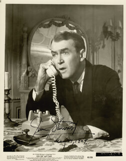 JAMES JIMMY STEWART - AUTOGRAPHED SIGNED PHOTOGRAPH 05/14/1964