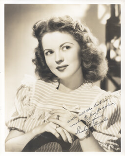 SHIRLEY TEMPLE - AUTOGRAPHED INSCRIBED PHOTOGRAPH