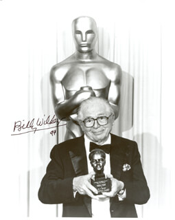 BILLY WILDER - AUTOGRAPHED SIGNED PHOTOGRAPH 1994