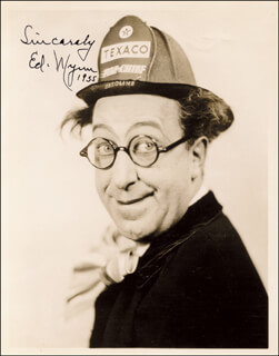 ED WYNN - AUTOGRAPHED SIGNED PHOTOGRAPH 1955