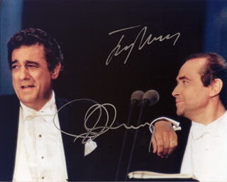 PLACIDO DOMINGO - AUTOGRAPHED SIGNED PHOTOGRAPH CO-SIGNED BY: JOSE CARRERAS
