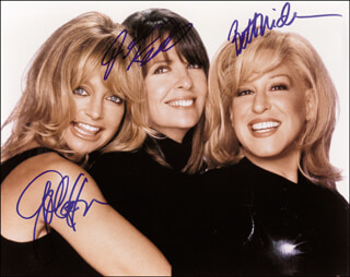 THE FIRST WIVES CLUB MOVIE CAST - AUTOGRAPHED SIGNED PHOTOGRAPH CO-SIGNED BY: GOLDIE HAWN, DIANE KEATON, BETTE MIDLER