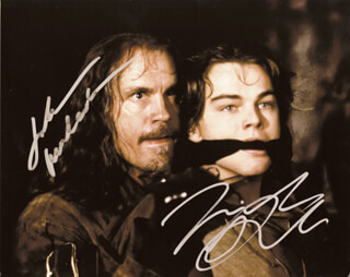 MAN IN THE IRON MASK MOVIE CAST - AUTOGRAPHED SIGNED PHOTOGRAPH CO-SIGNED BY: JOHN MALKOVICH, LEONARDO DI CAPRIO