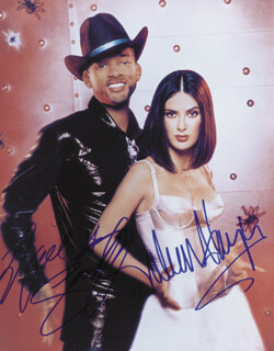 WILD WILD WEST MOVIE CAST - AUTOGRAPHED SIGNED PHOTOGRAPH CO-SIGNED BY: SALMA HAYEK, WILL SMITH