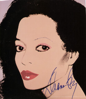 DIANA ROSS - ILLUSTRATION SIGNED
