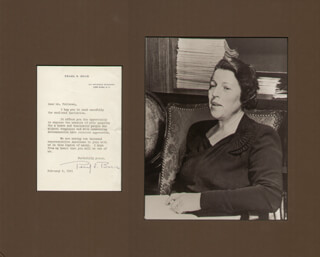 PEARL S. BUCK - TYPED LETTER SIGNED 02/04/1941