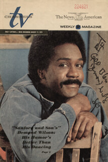 DEMOND WILSON - INSCRIBED NEWSPAPER PHOTO SIGNED 1986