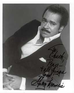 GREG MORRIS - AUTOGRAPHED INSCRIBED PHOTOGRAPH