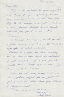 ENOLA GAY CREW (GEORGE R. CARON) - AUTOGRAPH LETTER SIGNED 12/17/1990