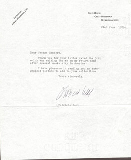 PATRICIA NEAL - TYPED LETTER SIGNED 06/22/1979
